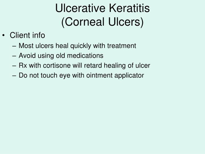 Ulcerative Keratitis