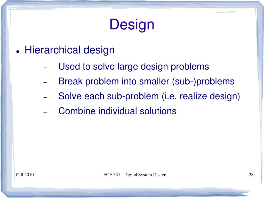 Ppt Ece 331 Digital System Design Powerpoint Presentation Free Download Id 998466