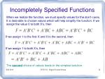 incompletely specified functions3