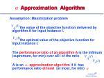 approximation algorithm