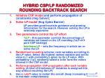 hybrid csp lp randomized rounding backtrack search2
