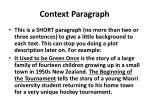 context paragraph