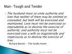 man tough and tender