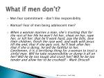 what if men don t