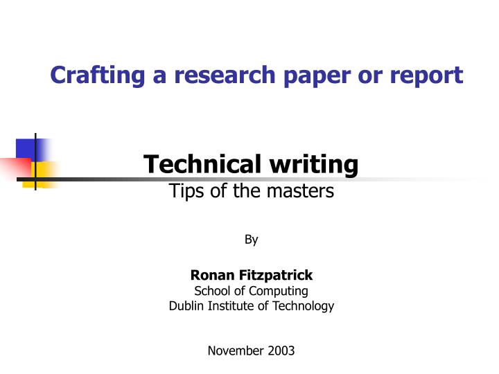 tips for writing a research masters paper Writing guide for students in graduate programs at writing a research paper requires critical analysis more than simply a report, a research paper also.