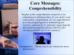 core messages comprehensibility1