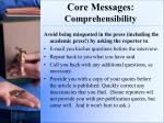 core messages comprehensibility2