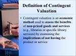 definition of contingent valuation