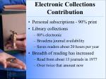 electronic collections contribution