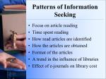 patterns of information seeking