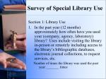 survey of special library use1