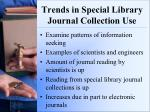 trends in special library journal collection use