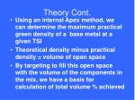theory cont