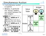simultaneous auction