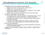 simultaneous auctions are superior