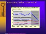 crime rates index crime trend