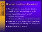 how bad is white collar crime