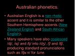 australian phonetics