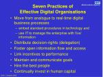 seven practices of effective digital organisations