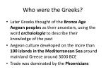 who were the greeks