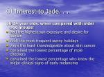 of interest to jade