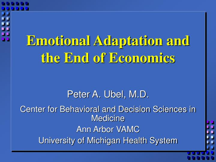 emotional adaptation and the end of economics n.