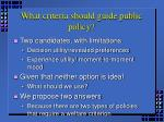 what criteria should guide public policy1