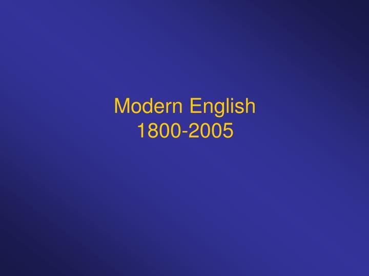 modern english 1800 2005 n.