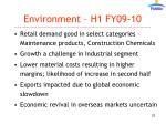environment h1 fy09 10
