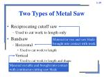 two types of metal saw