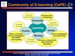 community of e learning cope