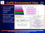 cope environment view