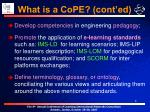 what is a cope cont ed