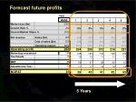 forecast future profits