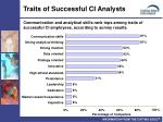 traits of successful ci analysts