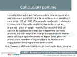 conclusion pomme