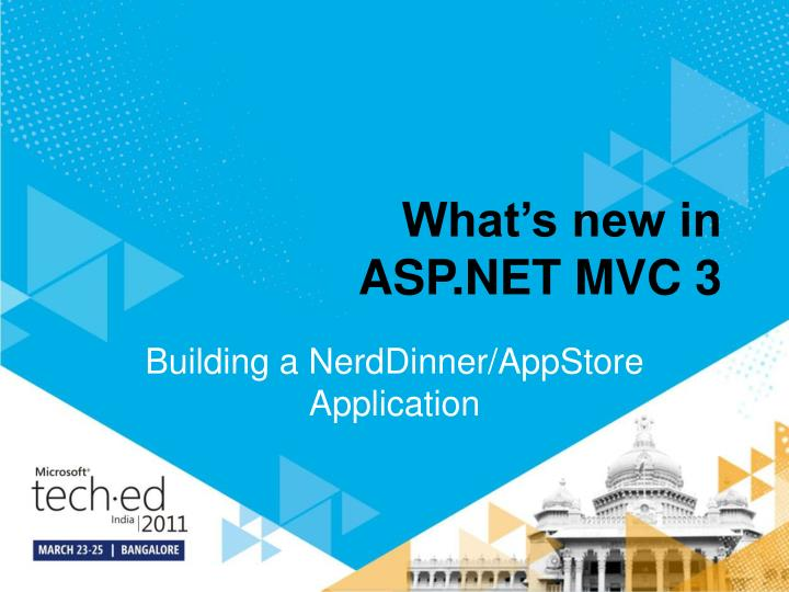 what s new in asp net mvc 3 n.
