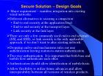 secure solution design goals