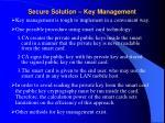 secure solution key management