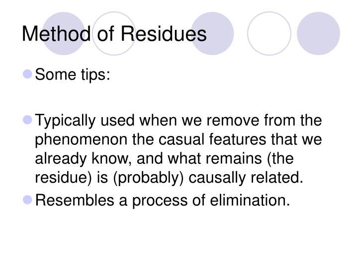 Method of Residues