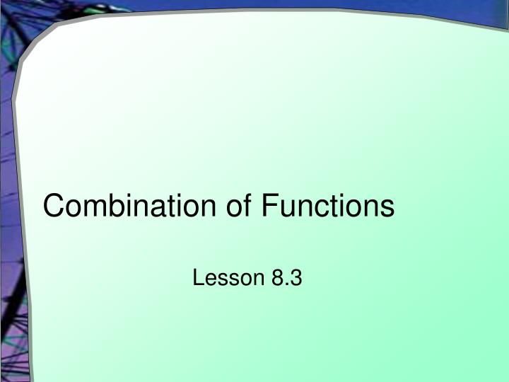 combination of functions n.