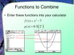 functions to combine
