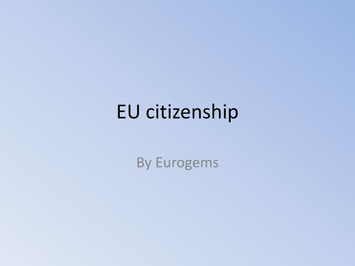 eu citizenship n.