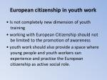 european citizenship in youth work