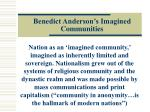 benedict anderson s imagined communities