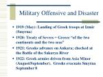 military offensive and disaster