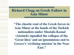richard clogg on greek failure in asia minor