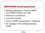 wap gprs based payments