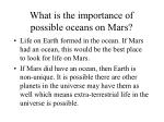 what is the importance of possible oceans on mars