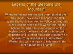 legend of the sleeping ute mountain